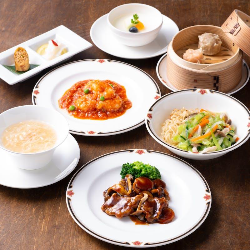 【桂花ランチ】土日祝日!フカヒレスープや選べるメイン料理など全7品(土日祝日)