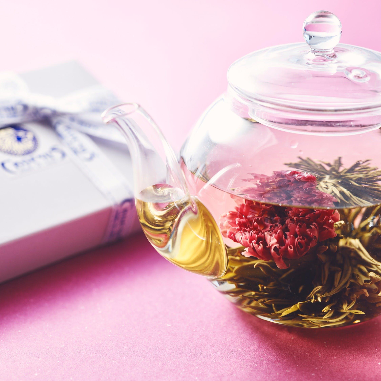 【お土産】お花が咲く工芸茶2種のギフト