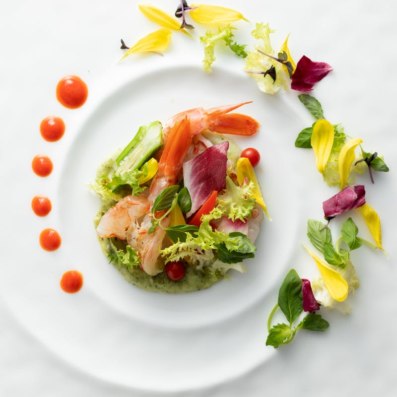【Soleil(ソレイユ)】お魚またはお肉の選べるメインなど全4品+乾杯スパークリング