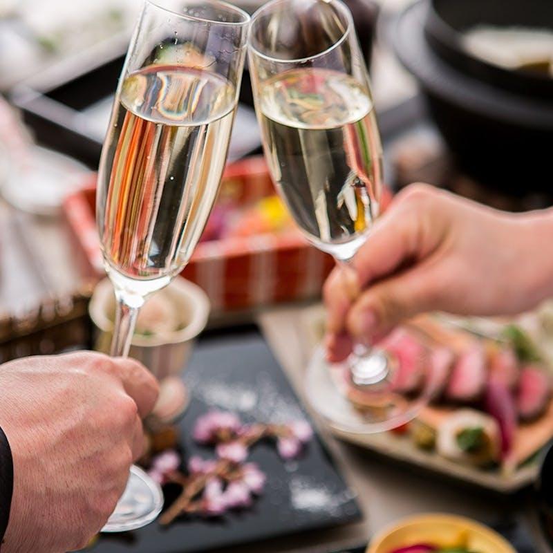 【結納・顔合わせ・誕生日など記念日に】~慶祝・温故知新~+乾杯シャンパン(個室確約)