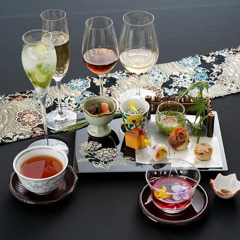 【一期一会】乾杯スパークリング含むノンアルコールペアリング6種付き(テーブル席)
