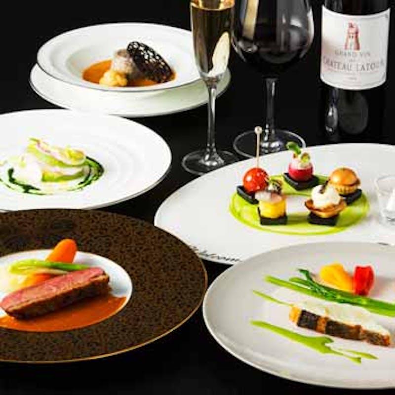 【マルセイユコース】Wメインなど全6品+乾杯シャンパン(オマール&国産牛肉のメイン)