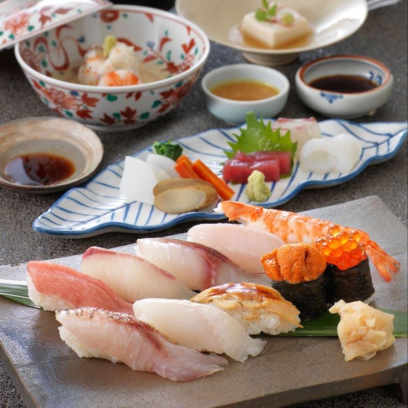 【寿司会席】先附、造り、握り寿司10種など全5品(ディナー限定・個室確約・リクエスト予約)