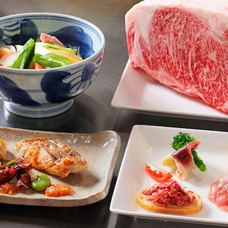【神戸牛と海の幸コース】全7品
