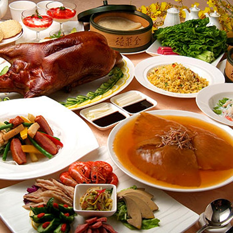 【名菜席コース】フカヒレ姿煮込み、伊勢海老、北京ダックなど 全7品