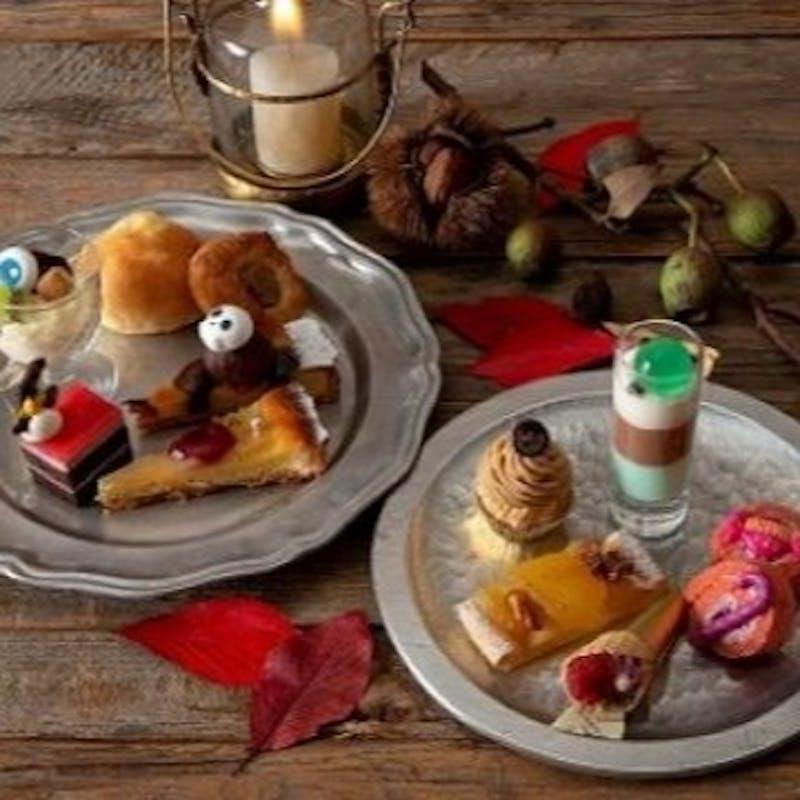 10/1~【ハロウィンスイーツブフェ 】サツマイモやカボチャ、栗など!秋の味覚を使用したスイーツが勢揃い