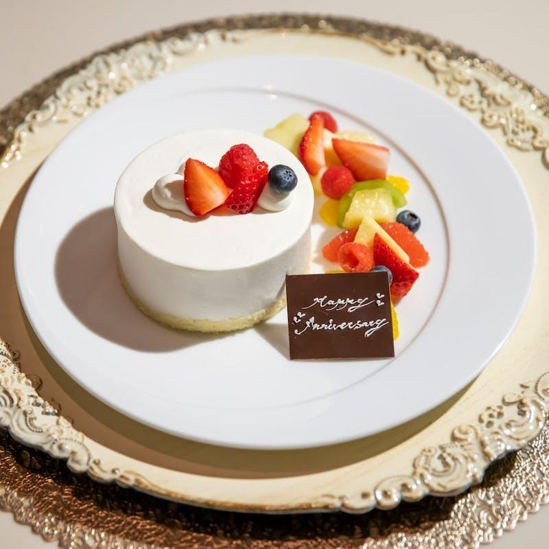 【記念日ランチ】乾杯スパークリング+ケーキ・花束などの特典付(選べるメイン1品を含む全5品)