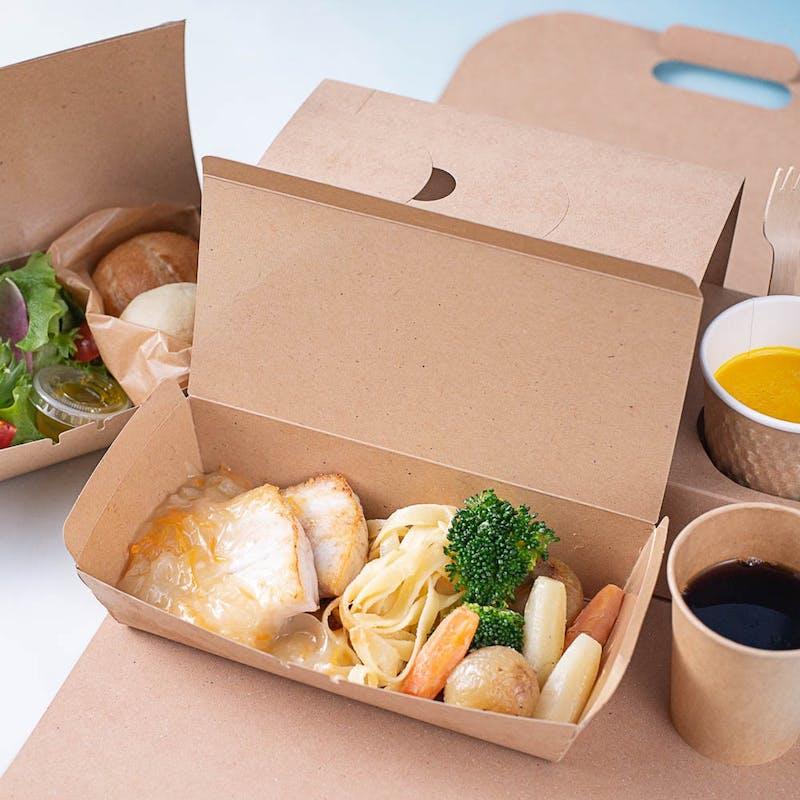 【旬の鮮魚のポワレ】サラダ、温野菜、スープ、パン付(テイクアウト専用プラン)