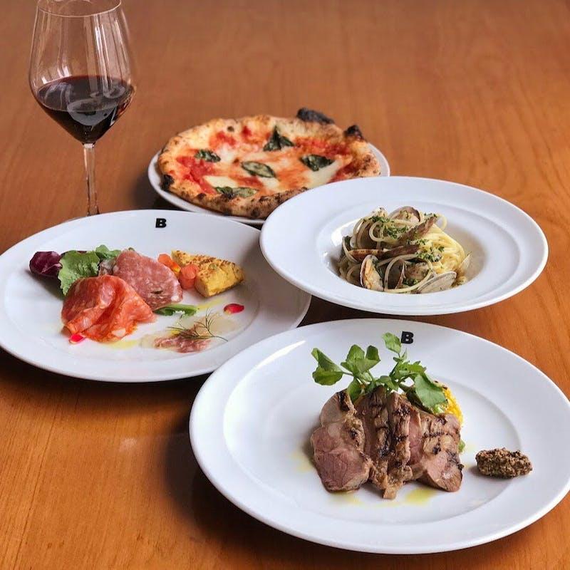 【チェナ グラツィオーゾ】アラカルトから選べるプリフィックスディナー全4品+乾杯スパークリング