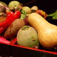 契約農家から仕入れた地野菜がふんだんに使われたやさしい料理の数々