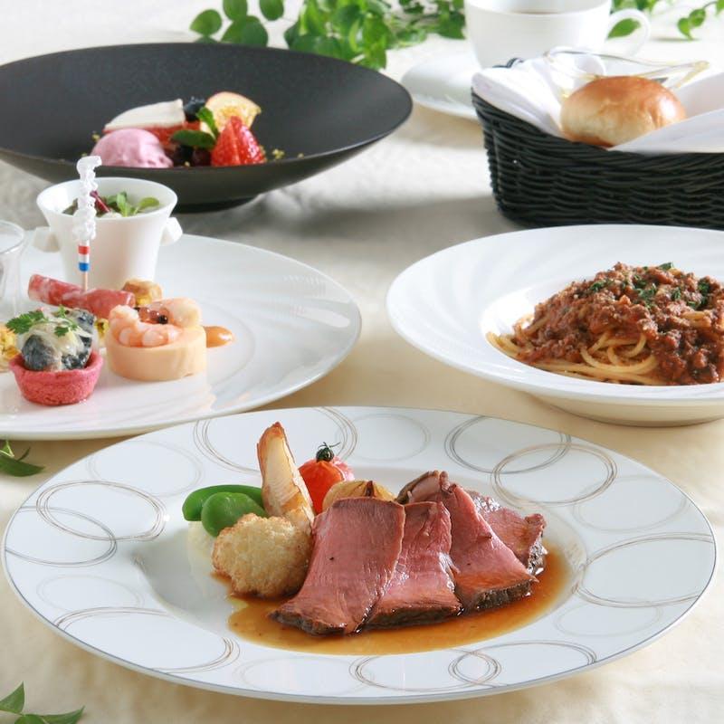 【ローストビーフランチ】前菜・シェフおすすめパスタなど全4品