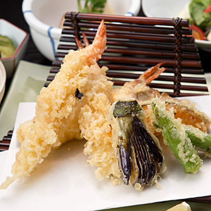 <和食>新鮮な海老や魚介、お野菜の天ぷら御膳+1ドリンク(平日限定(9/6~))