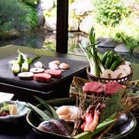 【石焼会席】「焼く」というシンプルな料理法だけに、真剣勝負の食材選び