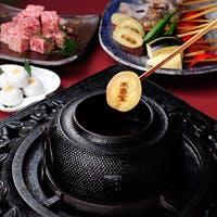 【茶釜料理】コース料理は「椿山荘饅頭」を揚げて締めくくる