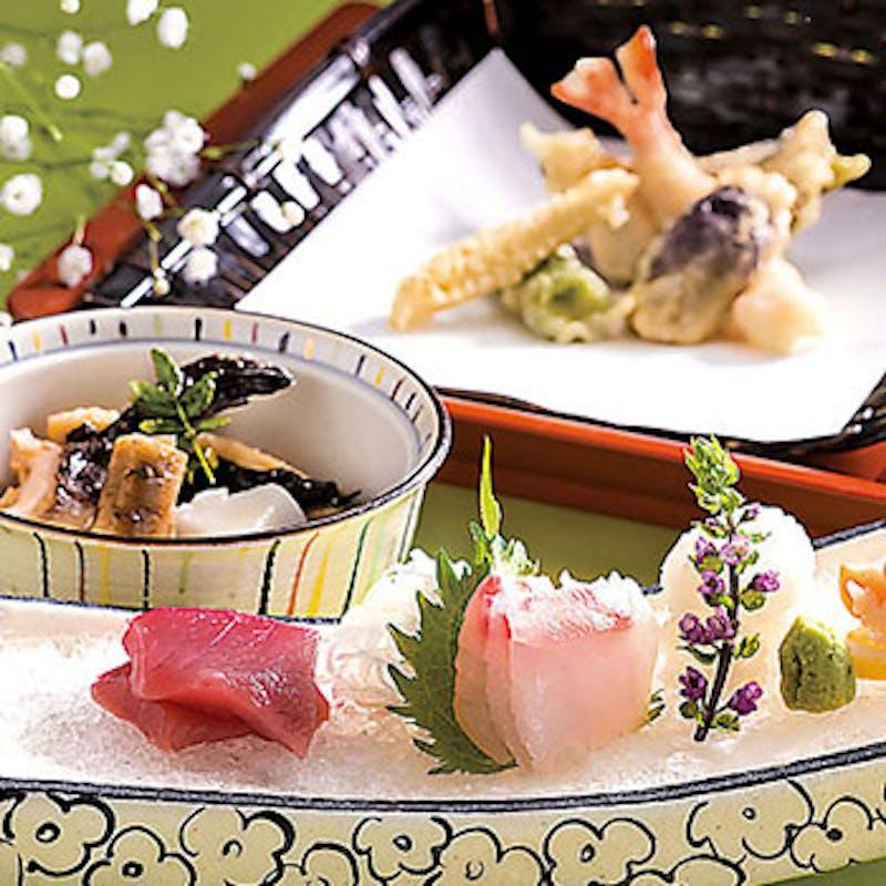 【天ぷら竹コース】季節の天ぷら13種など全9品+選べる乾杯ドリンク(天ぷら専用カウンター確約)