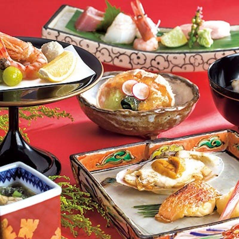 【味覚会席~白山~】石川の海の幸、山の幸をご堪能いただける全8品+選べる乾杯ドリンク