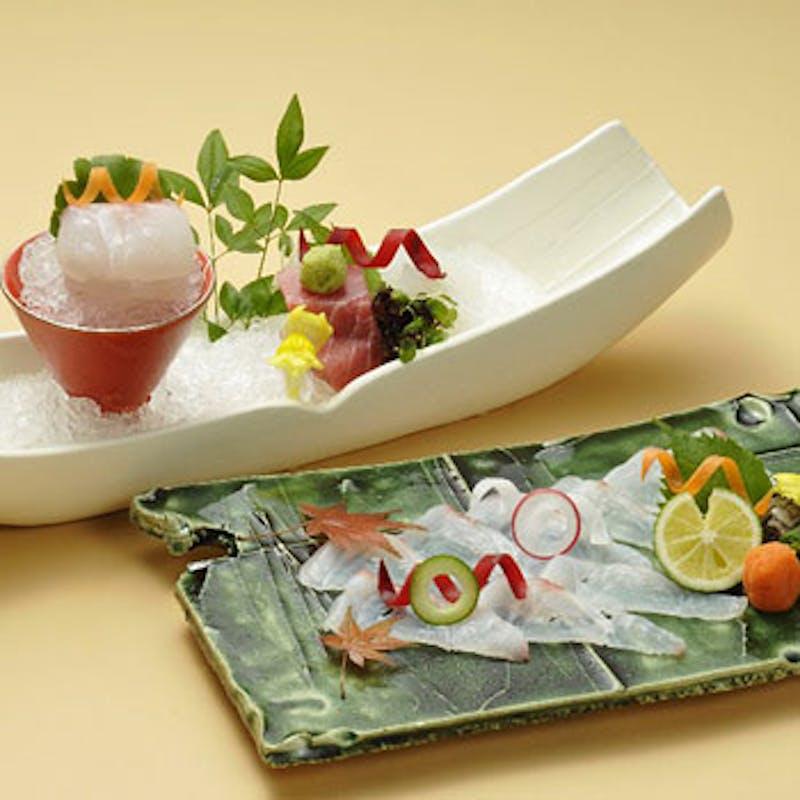 【四季の楽膳 雅】選べる造り、主菜、食事など全5品(窓側確約)
