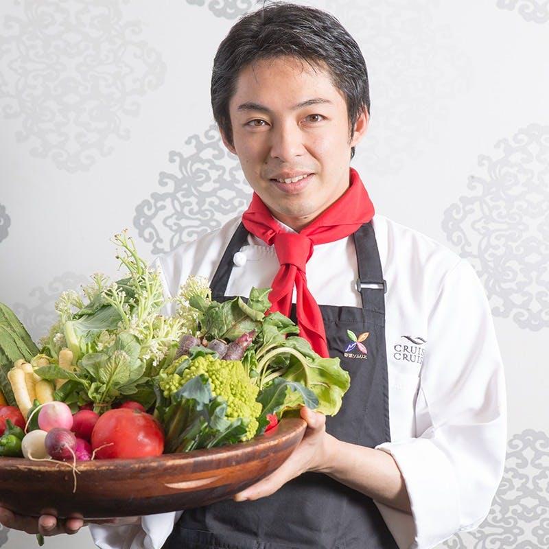 ヘルシーでビューティーな野菜ソムリエ厳選食材をつかった斬新な創作料理