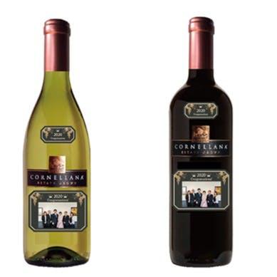 【手土産】記念写真付きフルボトルワイン 1本