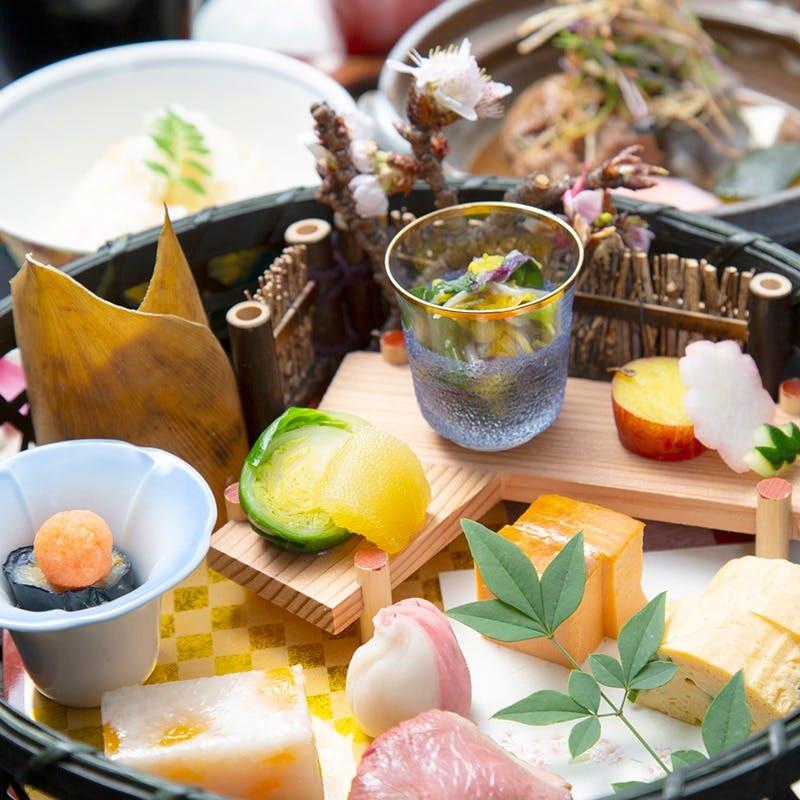 【昼懐石~宝珠~】前菜、蒸し物、進肴など全6品+食後のコーヒー(平日限定)