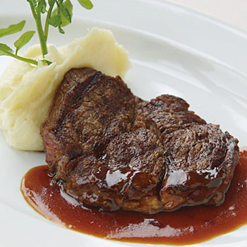 【ランチコース】21日熟成ブラックアンガスビーフ リブステーキ!全4品+食前酒付(200g)