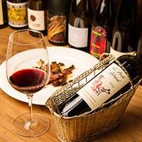 お料理に合う、体になじむ自然派ワインを中心にご用意しております