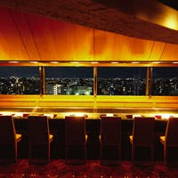 京都ホテルオークラの最上階 鉄板焼カウンターから見渡す京都市内絶景パノラマ