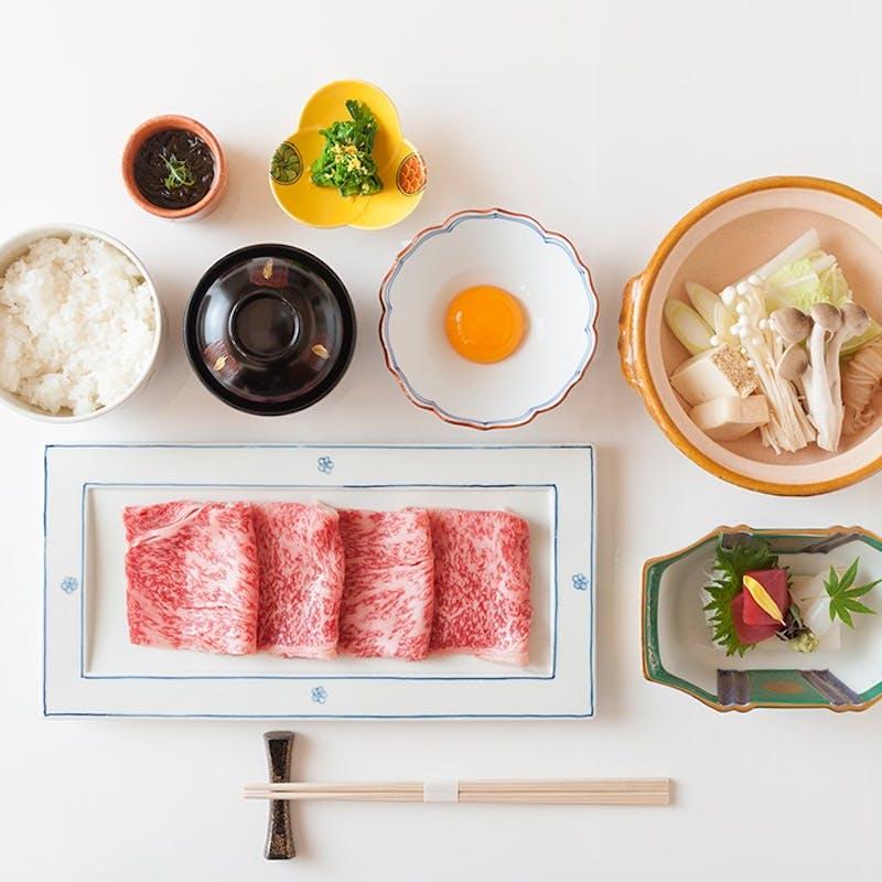 【特選すき焼きランチ】+黒毛和牛すき焼き御膳(個室確約)