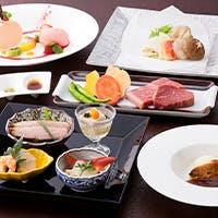 淀川邸自慢の前菜、造りから始まるコースもございます