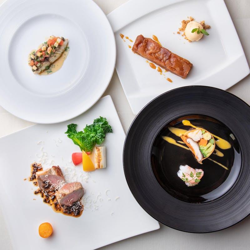 【リュウランチコース】魚&肉料理、デザートなど全5品