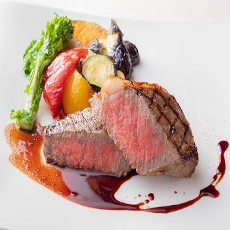 【国産牛ステーキのランチセット】