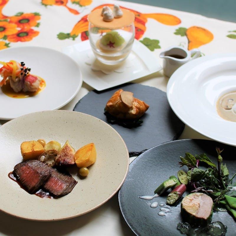 【庭ディナーコース】魚&肉のWメインを愉しむ全7品