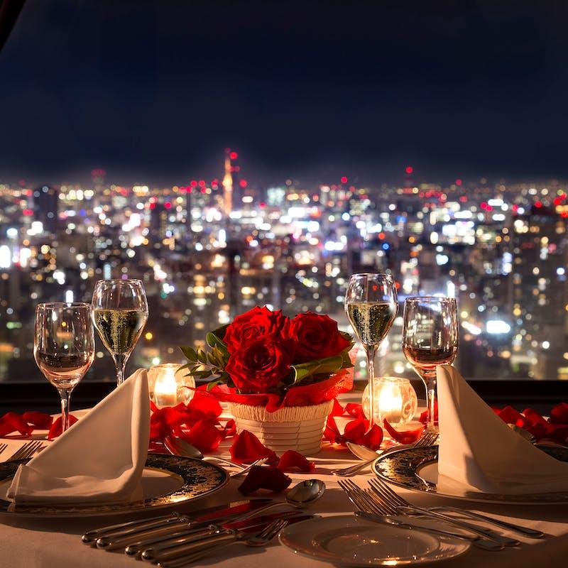【記念日プラン・グラン・ロゼ】選べる乾杯酒、ダーズンローズなど大切な日に(窓側確約)