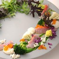 四季折々の野菜を使い、素材本来の味を大切にしたイタリアン