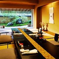 料亭旅館「強羅花壇」内にある個室のお座敷「茶寮」にてお食事が頂けます