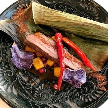 【Dinner C Course】カジュアルフルコース 肉&海鮮Wメイン等全7品+1ドリンク&カフェ