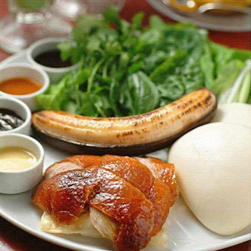 【名物北京ダックコース】前菜、北京ダック、麻婆豆腐など全5品+1ドリンク特典(食後の珈琲付)
