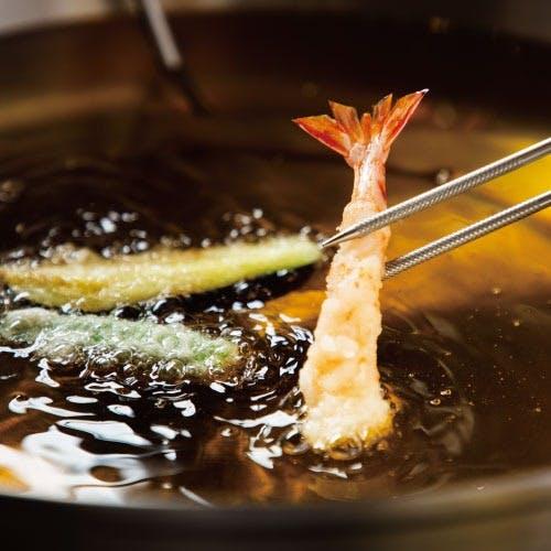 【カウンター席限定】揚げ立ての天ぷらが愉しめる