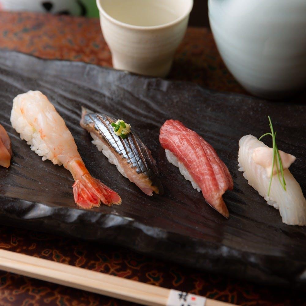 板前の技を堪能できる本格江戸前寿司