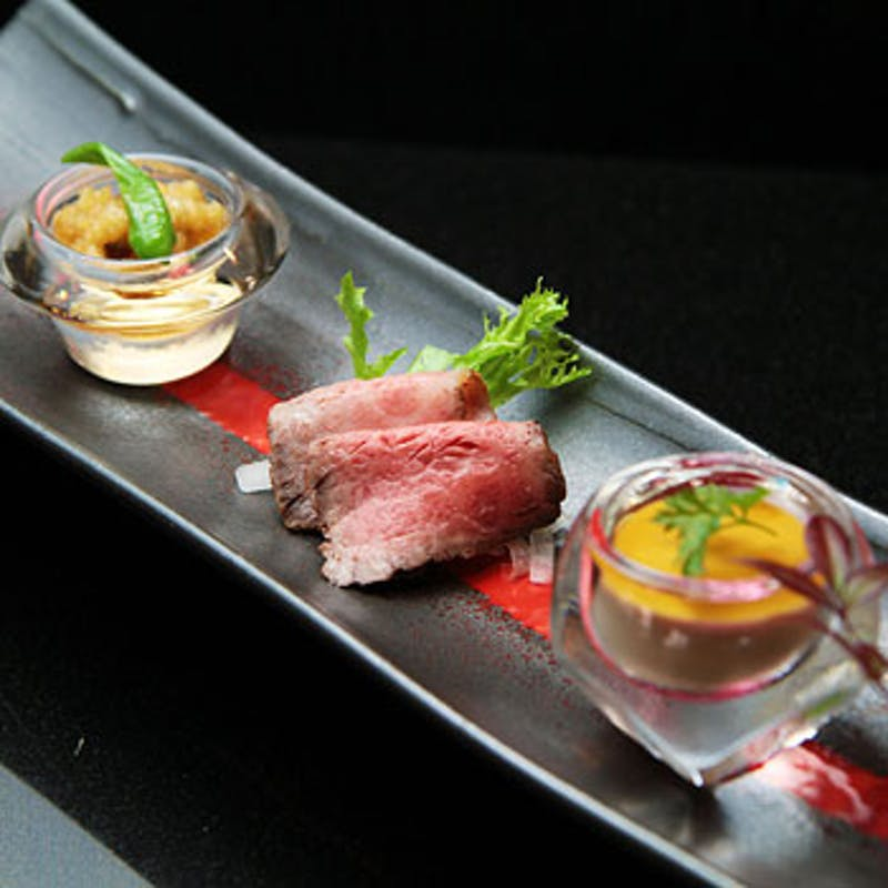 【蛍~ほたる~】国産牛ステーキ、彩り焼野菜など全6品