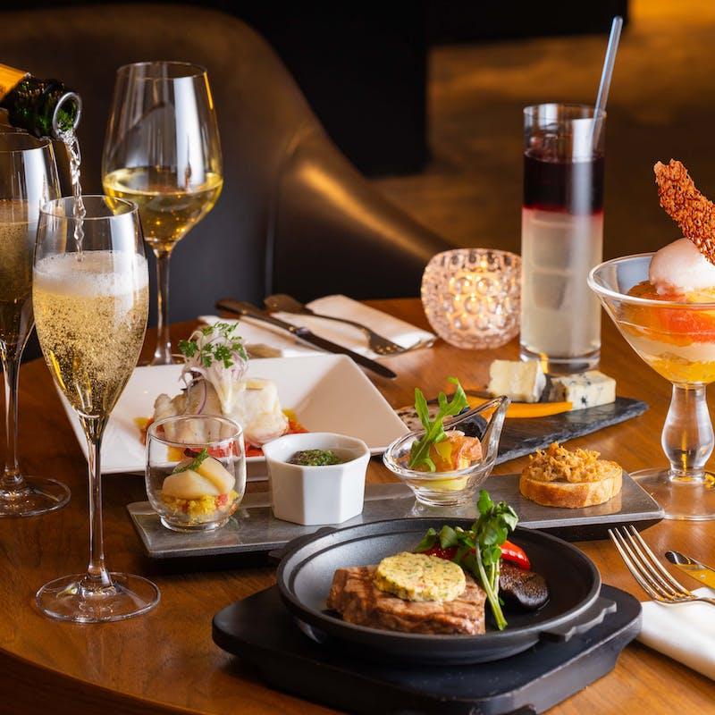 【エクセレントプラン】全4品+乾杯シャンパン+2時間フリーフロー