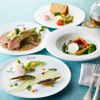 【キュイジーヌ ランチコース】魚orお肉で選べるメインに旬食材のオードブル含む特別プラン