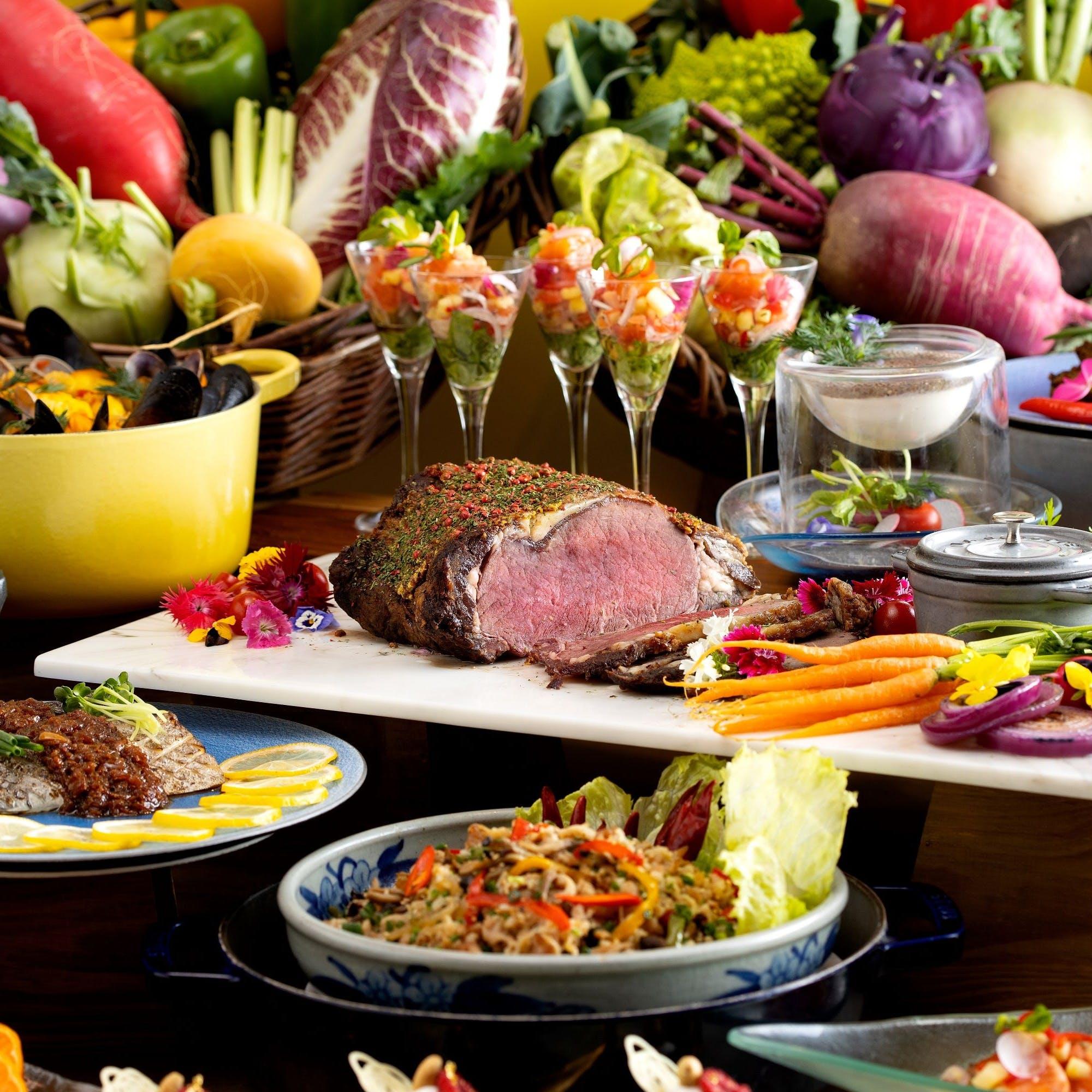 地産地消・新鮮・旬・健康をテーマにさまざまな料理を提供