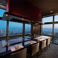 地上123m、ヤフードームを眼下に福岡市内を一望できる景観