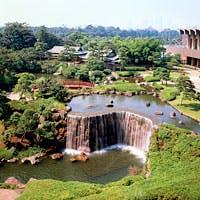 東京名園の1つにも数えられる歴史ある日本庭園を望むラウンジ