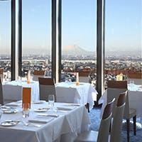 関東平野を一望できる眺望は一層お料理の味を引き立てます