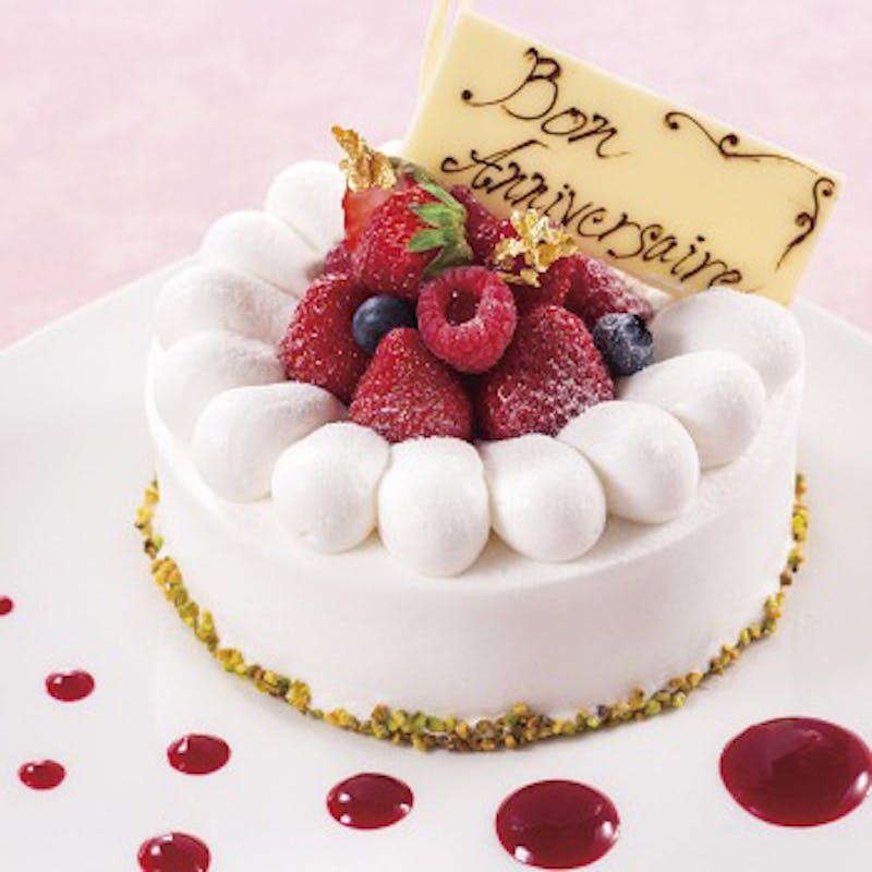 【Ladies course】~デザートはケーキ~+乾杯スパークリング+記念日ケーキ(窓側確約)