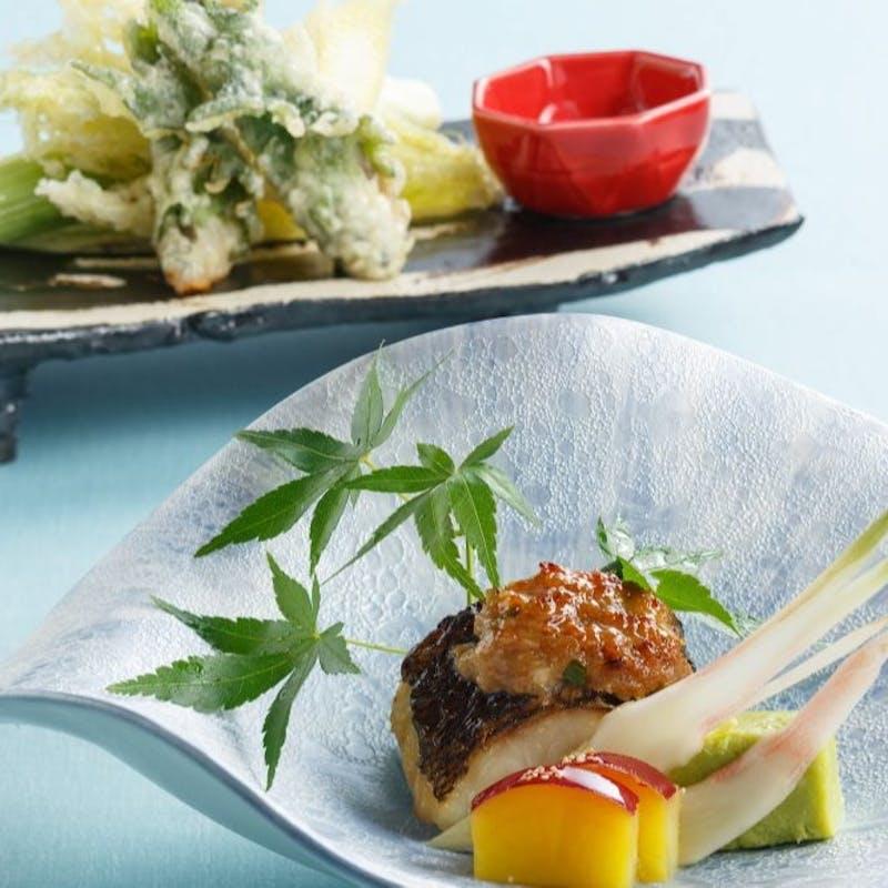 【彩会席】揚物、焼物など繊細な味覚の全7品+食後の珈琲(ホール席/3日前までのご予約限定)