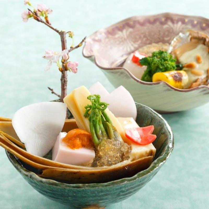 【彩会席】揚物、焼物など繊細な味覚の全7品+食後の珈琲フリー(ホール席)