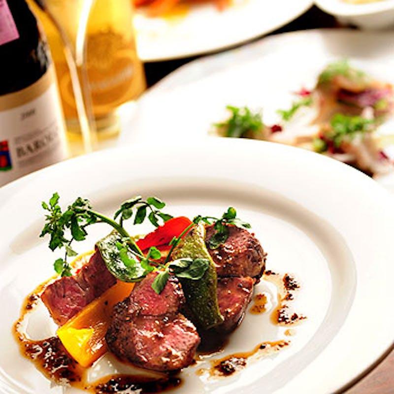 【シェフおまかせCコース】前菜、パスタ、お魚・お肉料理など全6品+1ドリンク